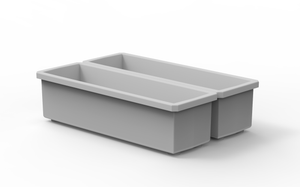 "2 Customizable 1x3 Bins (1.6"" x 5.5"")"