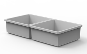 "2 Customizable 2x2 Bins (3.56"" x 3.56"")"