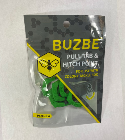 Pull Tab & Hitch Point - Pack of 6 - GREEN