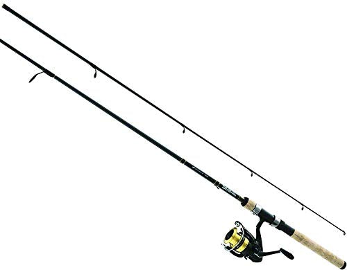 Daiwa DSK20-B/F602ML D-Shock Freshwater Spinning Combo, 1 Bearing, 6' Length, 2Piece Rod, Medium/Light Power, Fast Action, Ambidextrous - Nihon Fishing