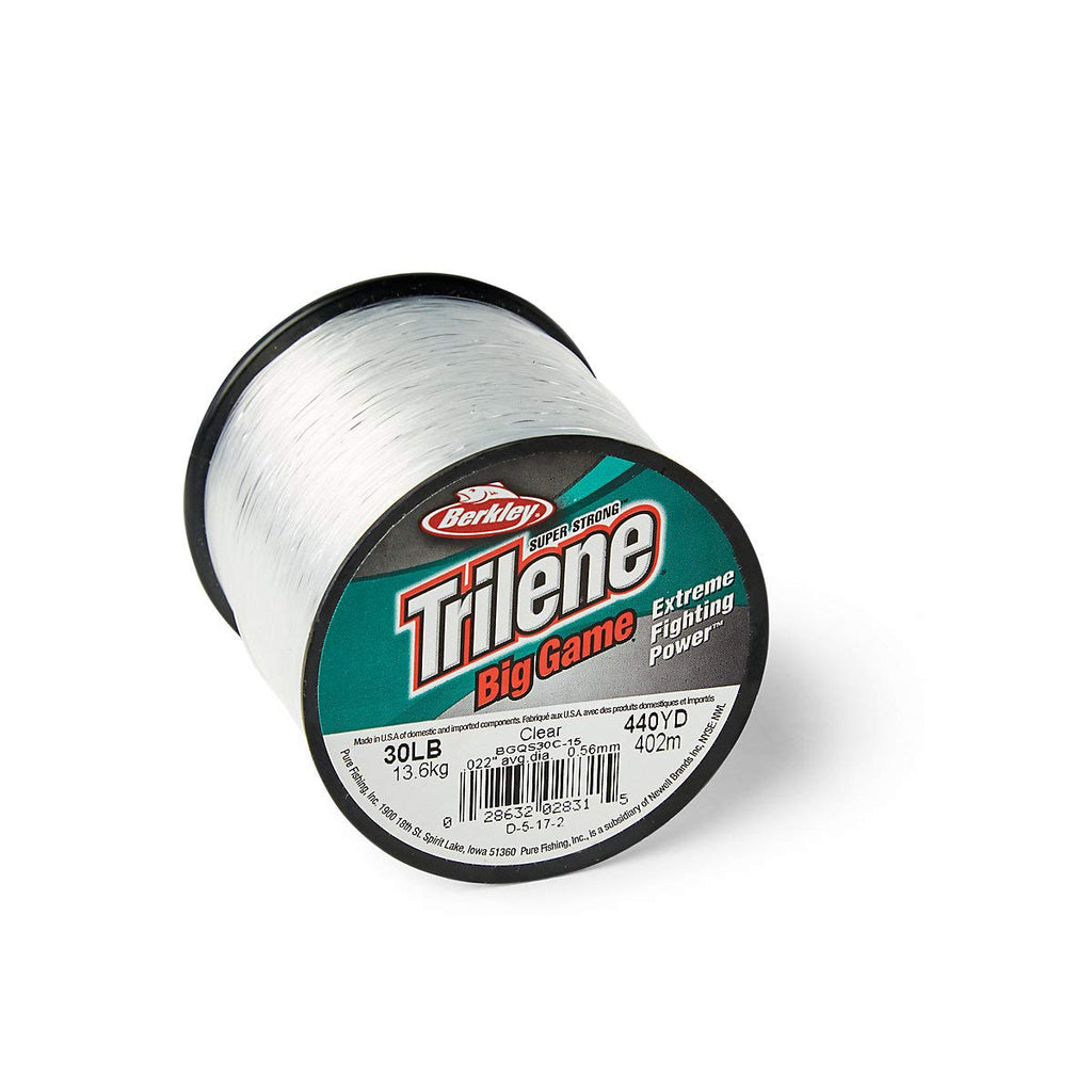 Berkley Trilene Big Game Monofilament Custom Spool, Clear, 30 Pound - Nihon Fishing