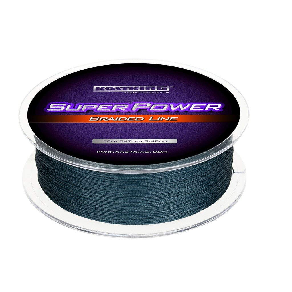 KastKing Superpower Braided Fishing Line,Low-Vis Gray,6 LB,327 Yds - Nihon Fishing