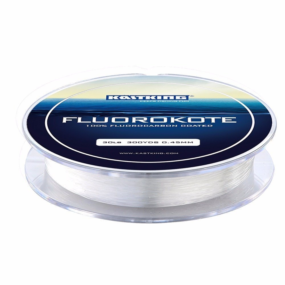 KastKing FluoroKote Fishing Line 100 Percent Pure Fluorocarbon Coated 4LB 300Yds 274M Premium Spool Clear - Nihon Fishing