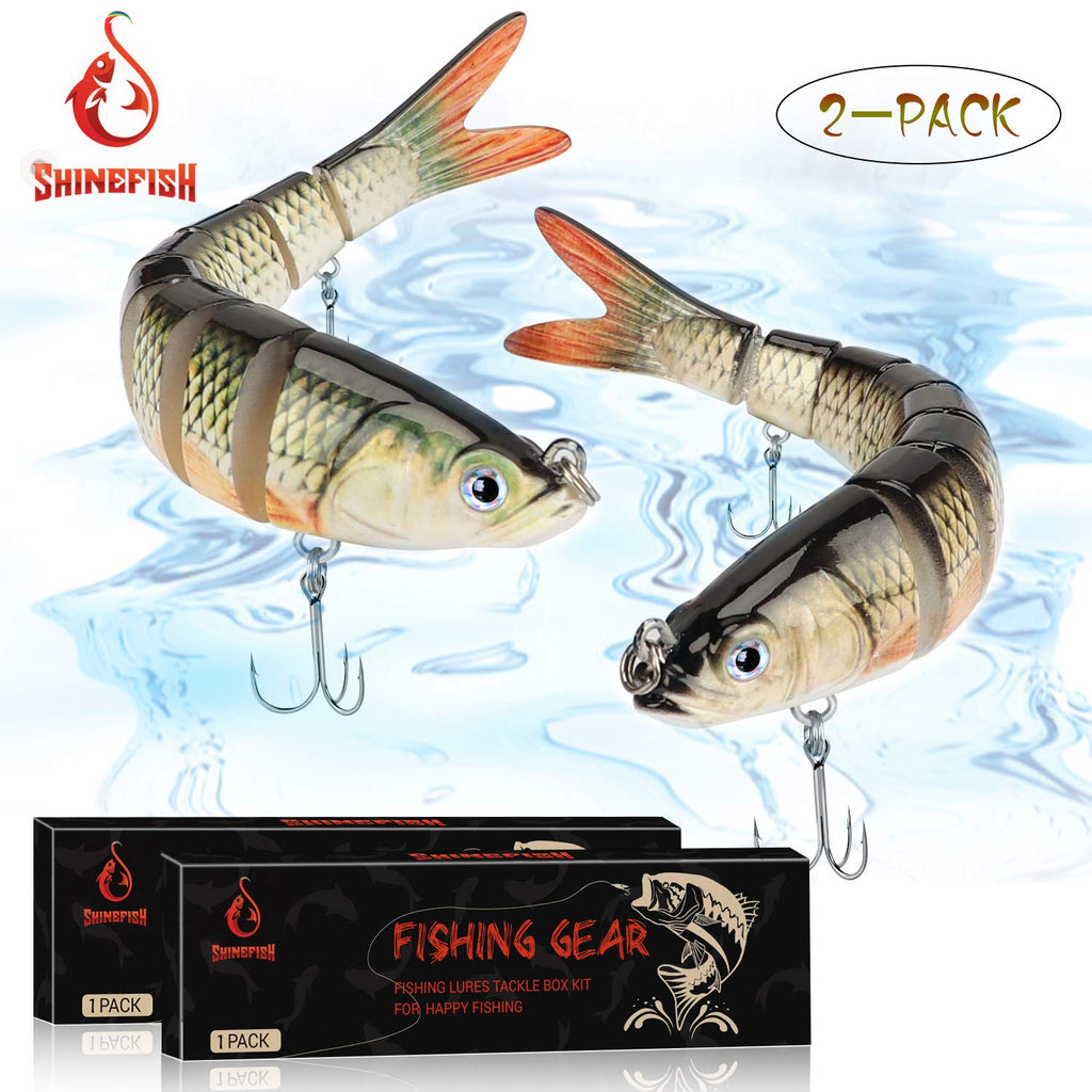 SHINEFISH Fishing Lures Multi Jointed Swim baits Slow Sinking bass Lures - Nihon Fishing