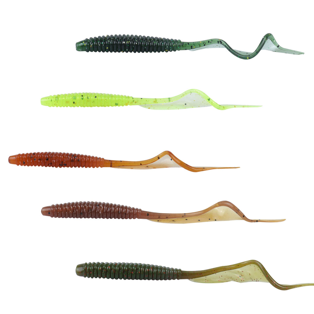 RUNCL Curved Tail Grubs, Swimbaits 40 pack - Nihon Fishing