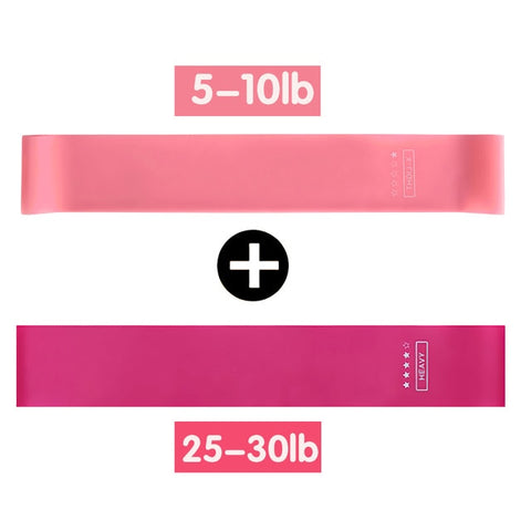 5pcs Elastic Bands For Fitness Gum Exercise Gym Strength Resistance Bands Pilates Sport Fitness Bands Crossfit Workout Equipment