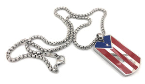 Puerto Rican Orgullo Flag Necklace Set