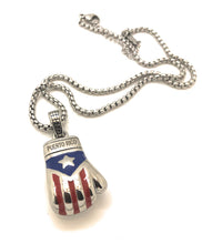 Load image into Gallery viewer, Boricua Boxing Glove (Small) with Chain Set - Limited Edition