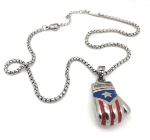 Boricua Boxing Glove (Small) with Chain Set - Limited Edition