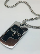 Load image into Gallery viewer, Mexican Flag Pendant and Stainless Steel Box Chain Set