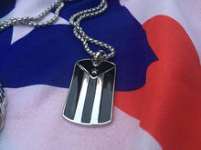 Load image into Gallery viewer, Puerto Rican Flag Penadant and Stainless Steel Box Chain Set