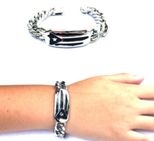 Load image into Gallery viewer, Puerto Rican Island Stainless Steel Link Bracelet with Designer Clasp