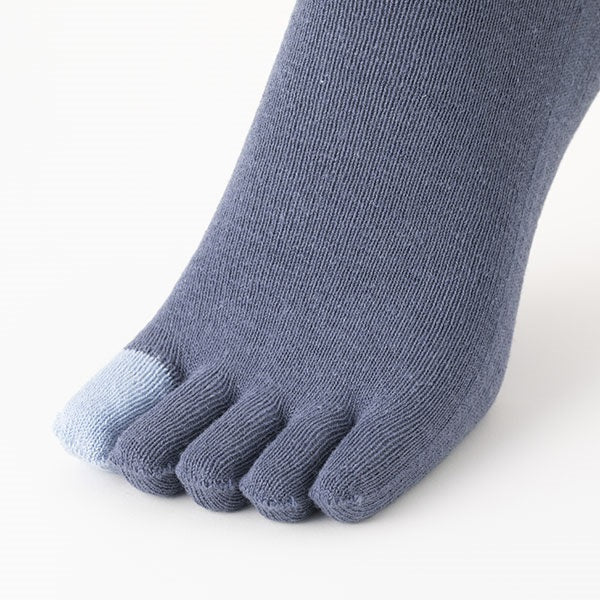 Cotton linen 5-finger socks