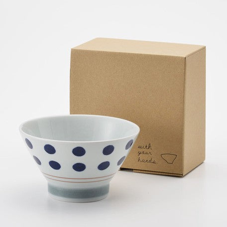HASAMI Donburi Bowl with Tenugui | Dot
