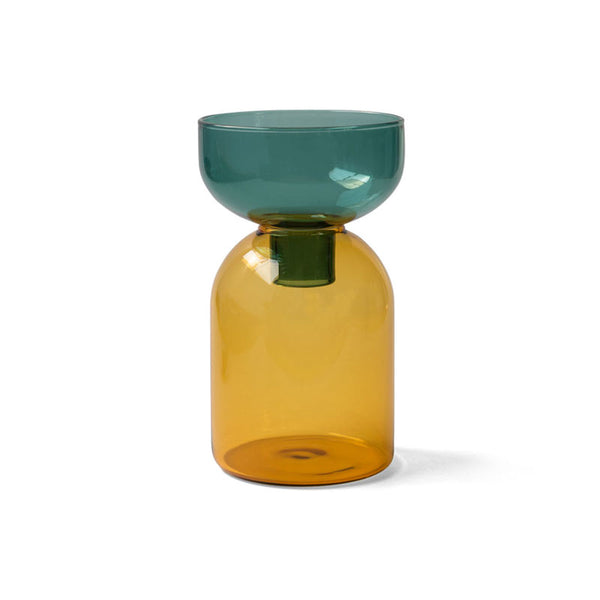 TWO TONE VASE | Circle | Green × Yellow