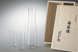 Decanter and 2 Glasses for sake | SHOTOKU Glass
