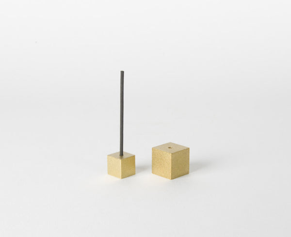 Cube Incense Holder | Gold