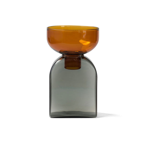 TWO TONE VASE | Square | Amber×Gray