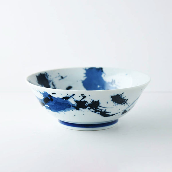 Blue and white Ramen Bowl