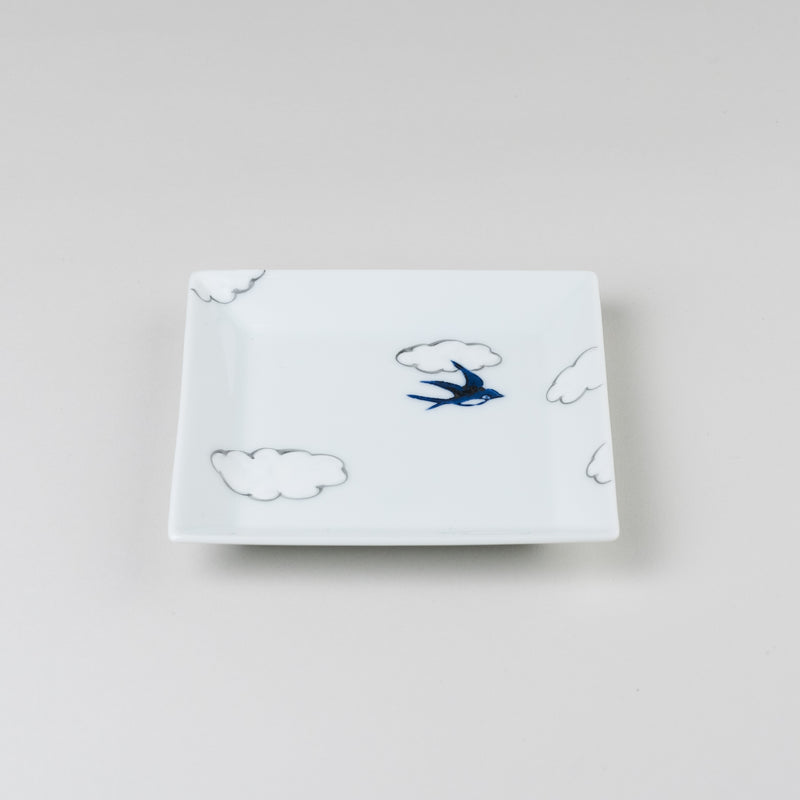 hand-painted Square Plate | arita porcelain