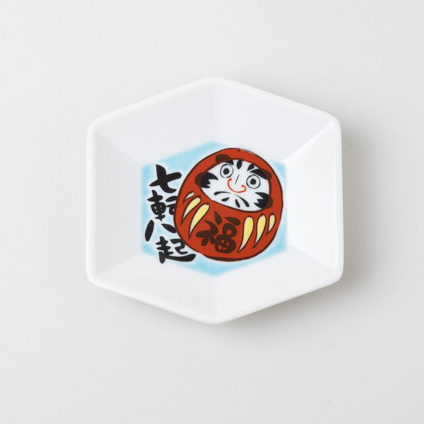 Kutani ware Lucky plates | hexagon
