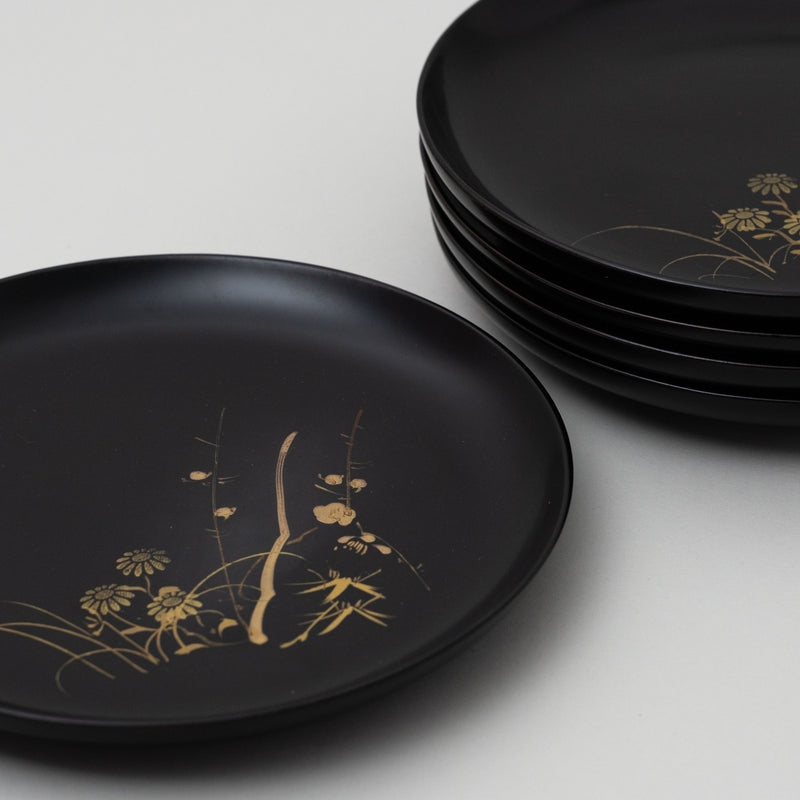 Vintage japanese lacquered plate | C