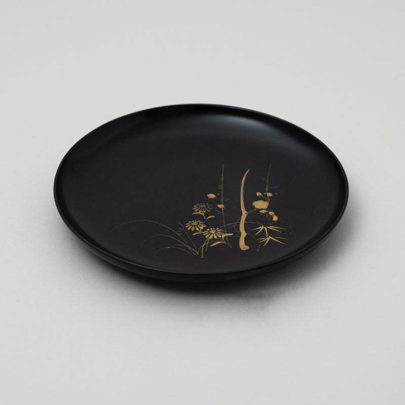 Vintage japanese lacquered plate | D