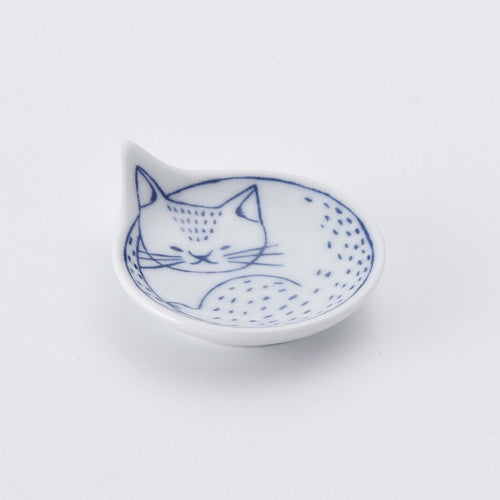 Hasami ware cat mini plate