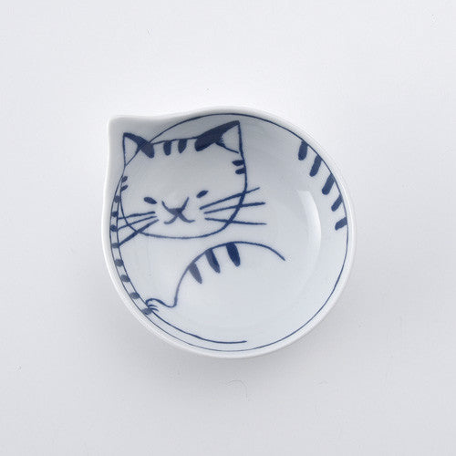 Hasami ware cat small bowl