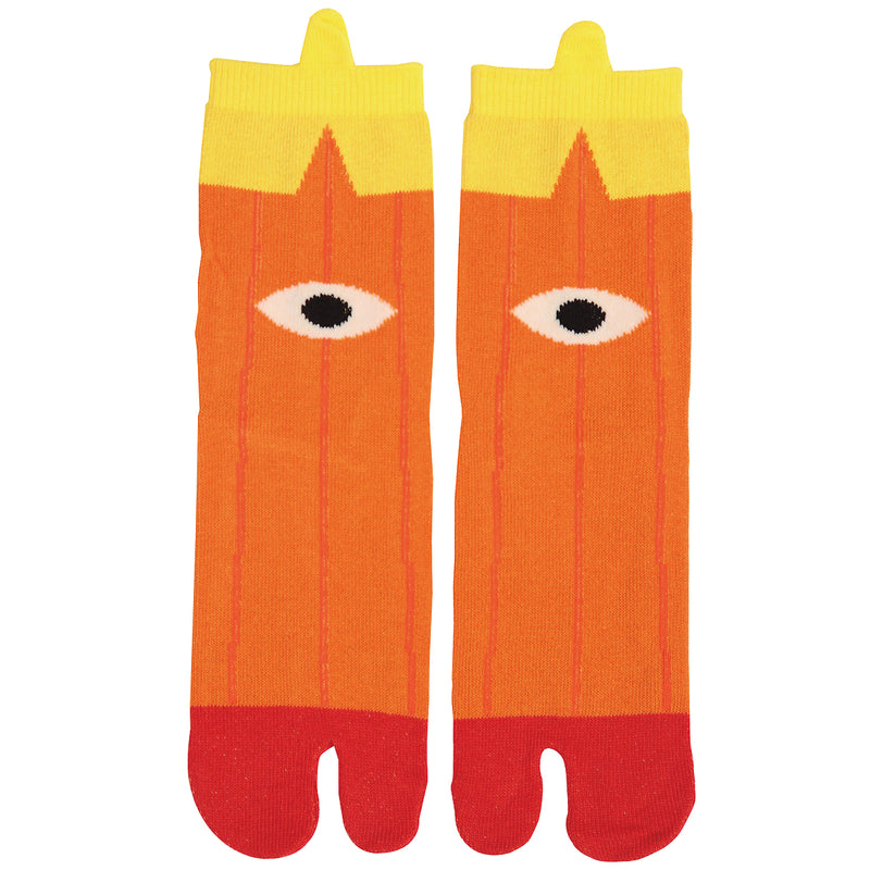Tabi Socks/Kasabake the umbrella yokai [Orange]