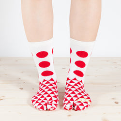 Tabi Socks/Dots and Triangles