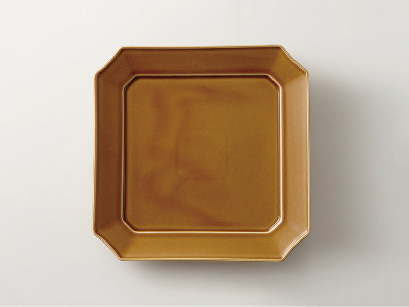 Square Dish 24cm Light-Brown | mizu mizu