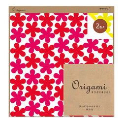 Origami | 2 color assortment  floral pattern red / yellow