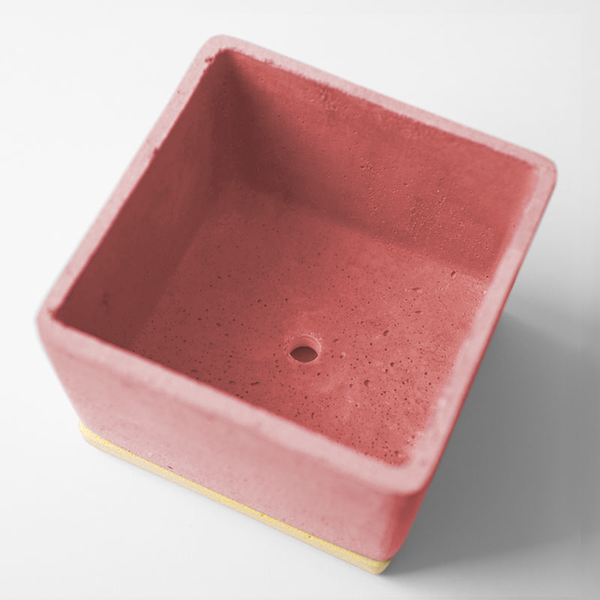 POLYSTONE POT | Red | amabro