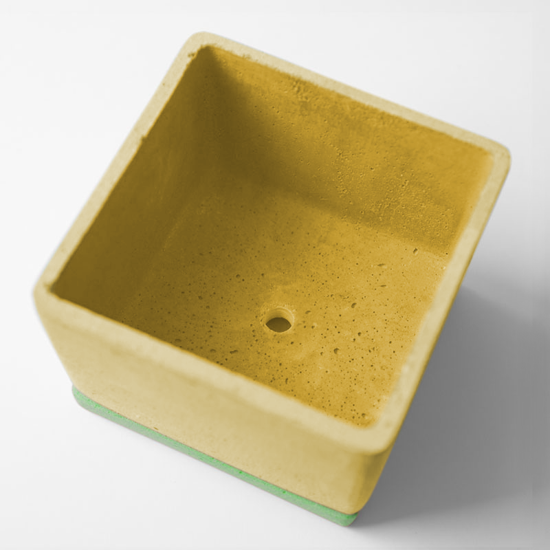 POLYSTONE POT | Yellow | amabro