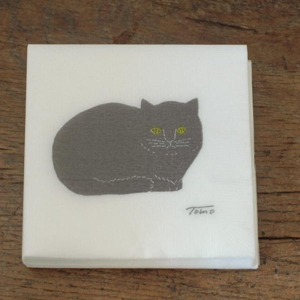 Tomotake black cat paper napkin 50 sheets