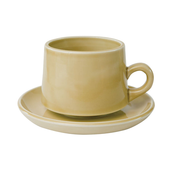 REGULAR CUP & SAUCER | Yellow | amabro