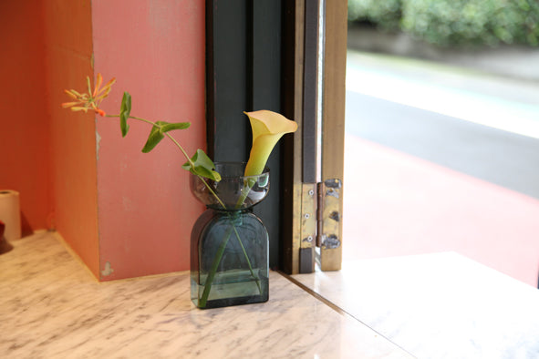TWO TONE VASE | Square | Gray×Green