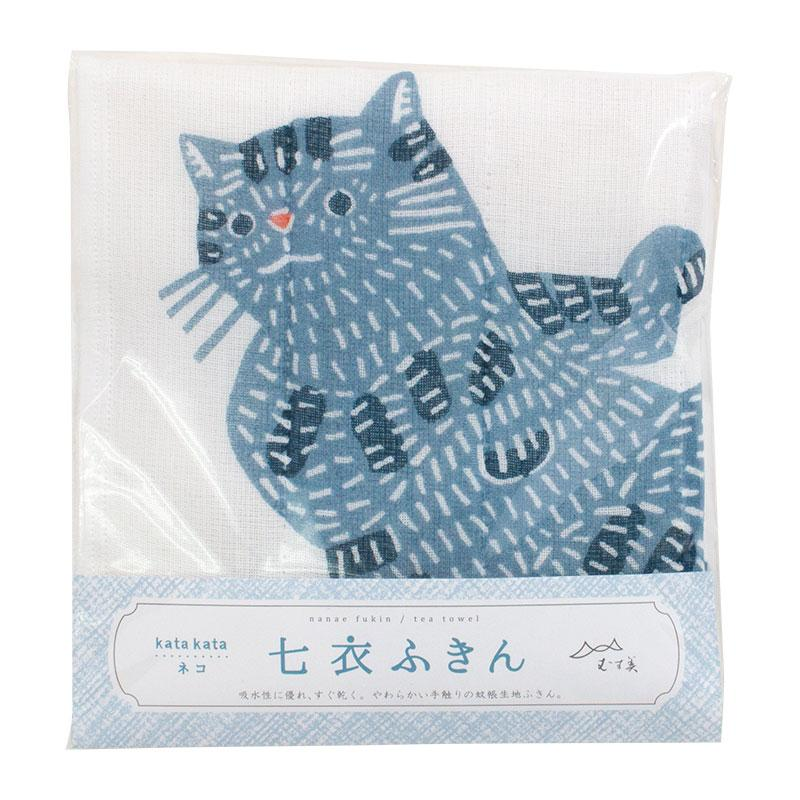 Tea Towel | Cat Blue | kata kata