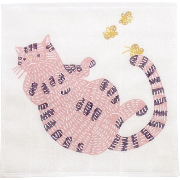 Tea Towel | Cat Pink