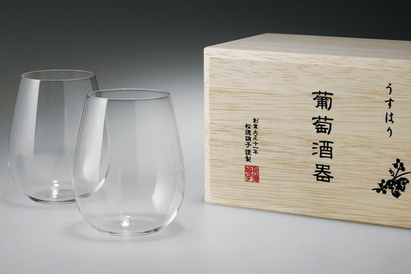 "Usuhari ""BUDOU SHUKI Bordeaux"" with wooden box 
