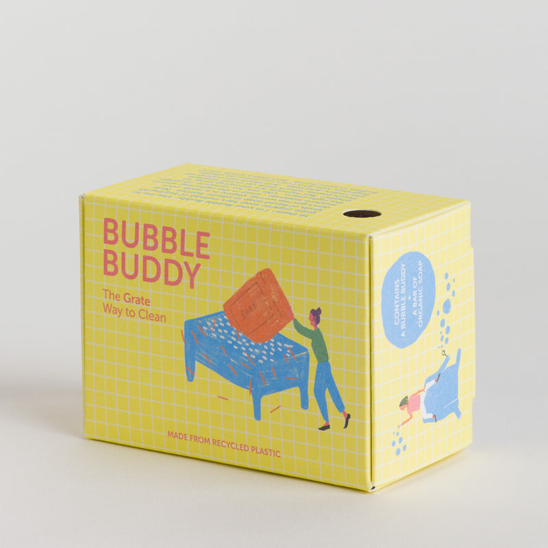 BUBBLE BUDDY | POWDER PINK SOAP DISH + CLEANING SOAP