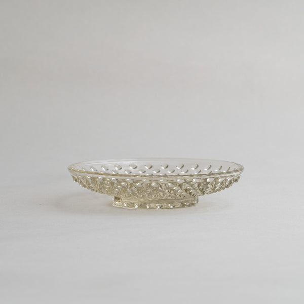 Hirota Glass Hail Bean plate | Moon