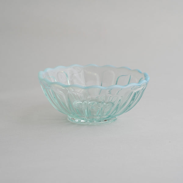 Hirota Glass Yuki No Hana Dessert bowl  | Blue