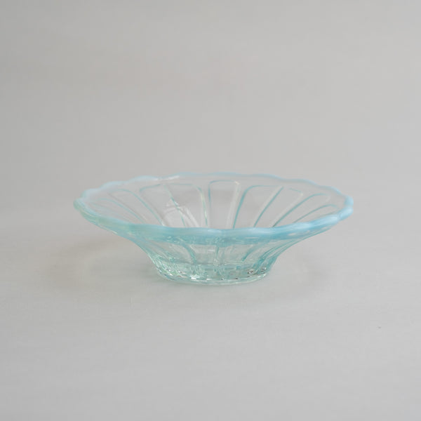 Hirota Glass Yuki No Hana  Bowl  | Blue