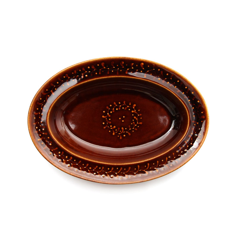 DAYS OF KURAWANKA | SLIPWARE - Oval plate | amabro
