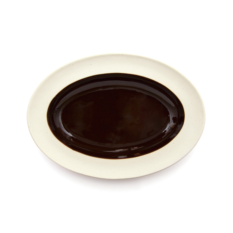 DAYS OF KURAWANKA | BISQUE BROWN - Oval plate | amabro