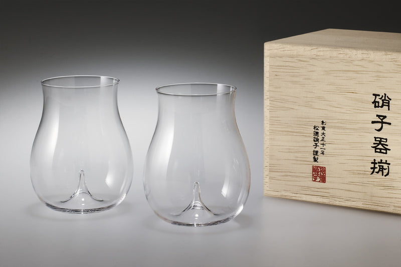 Usuhari Old Fashioned Glass L 2P w/ box | SHOTOKU Glass