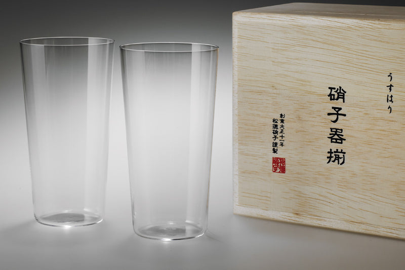 Usuhari Tumbler L 2P w/ box | SHOTOKU Glass