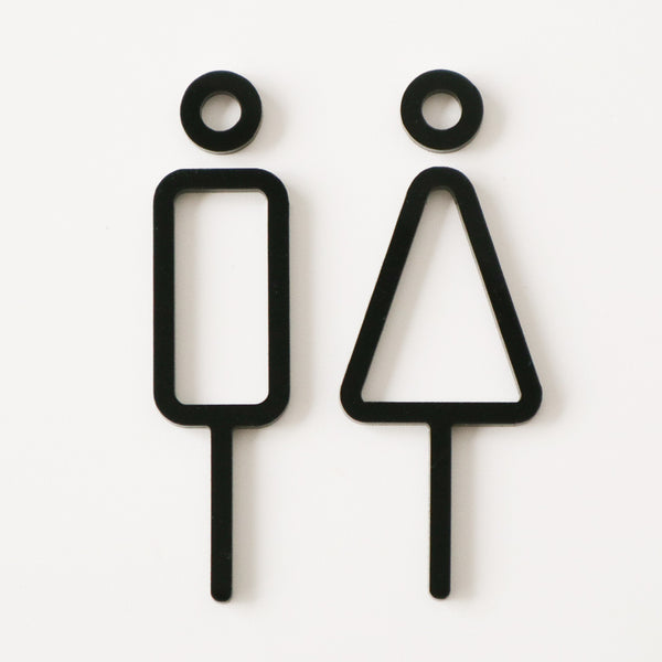 RESTROOM INTERIOR SIGN (2pcs) | MOHEIM